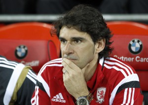 Aitor Karanka of Middlesbrough during the Sky Bet Championship match at the Cardiff City Stadium, Cardiff Picture by Mike Griffiths/Focus Images Ltd +44 7766 223933 16/09/2014
