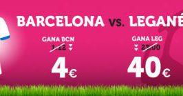 Wanabet: ¿Barça @4.0 vs. Leganés @40.0? + 200€